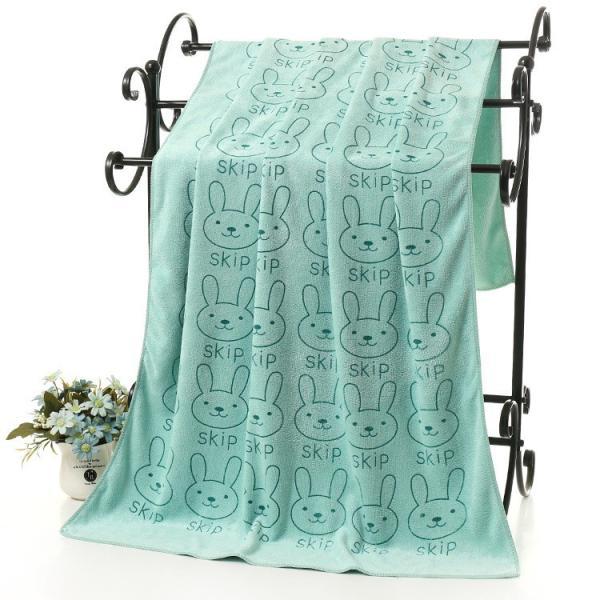 バスタオル マイクロファイバー 吸水タオル 大判 大きめ 吸水力 ウサギ クマ 子供 こども 子ども キッズ 肉球 動物 可愛い かわいい おしゃれ|plusnao|13