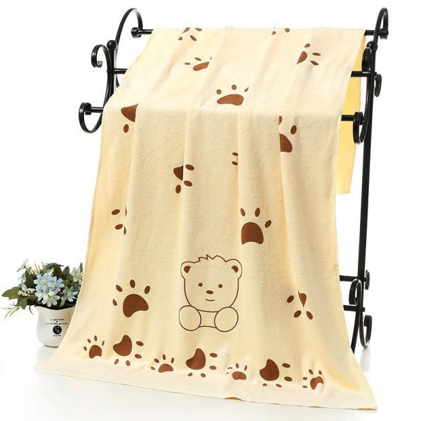 バスタオル マイクロファイバー 吸水タオル 大判 大きめ 吸水力 ウサギ クマ 子供 こども 子ども キッズ 肉球 動物 可愛い かわいい おしゃれ|plusnao|19