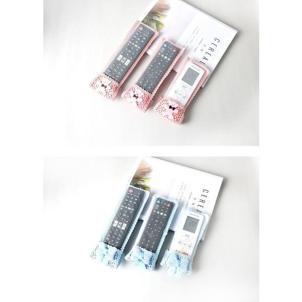 リモコンカバー リモコンケース テレビリモコンカバー 小物 雑貨 レース リボン くま かわいい マジックテープ|plusnao|14