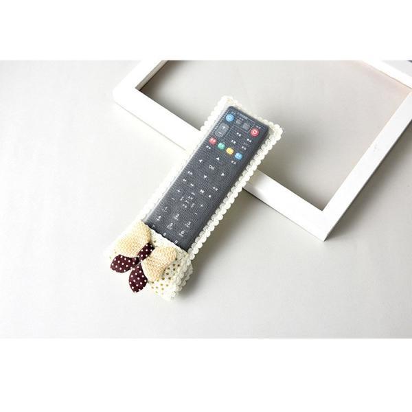リモコンカバー リモコンケース テレビリモコンカバー 小物 雑貨 レース リボン くま かわいい マジックテープ|plusnao|16