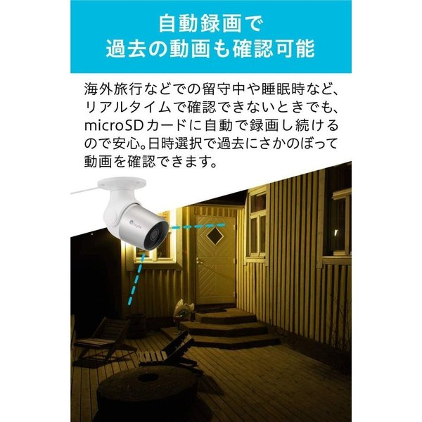 【+Style ORIGINAL】スマートセキュリティカメラ Google Assistant/Amazon Alexa 対応|plusstyle|07