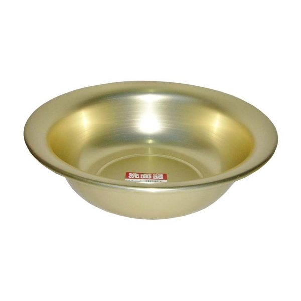 洗面器 32cm 前川金属工業所 アルミ製 風呂桶 湯桶 金TD