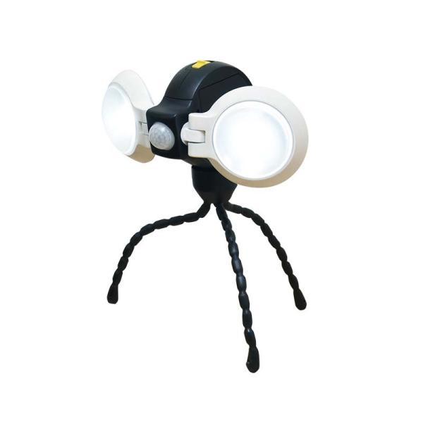 納期2週間程度 ムサシ RITEX どこでもセンサーライトダブル ASL-092 LED 170LM 三脚付 屋内 屋外 用 乾電池式 福KH