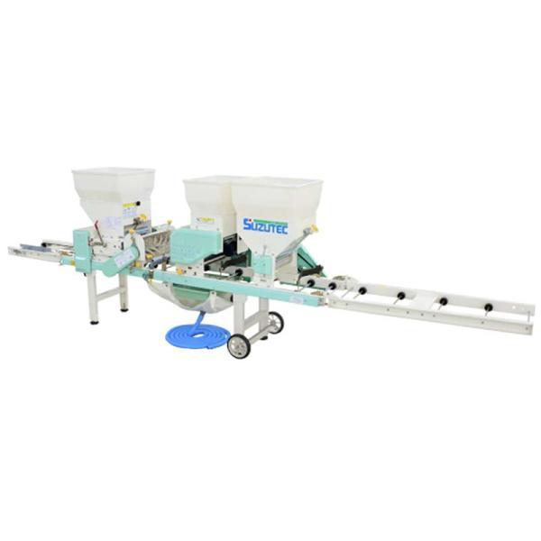 全自動播種機 THK-1009B 散播専用 スミ取り装置(前) 潅水装置 キャスター 潅水 播種 覆土 スズテック オK 代引不可