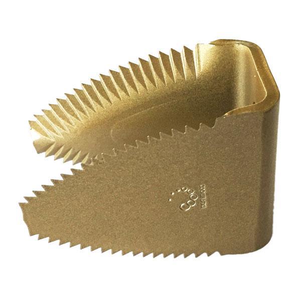 10個 国産 スーパードラムカッター クボタ コンバイン用 ワラ切刃 両面刃 2つ穴 鋸目 清製HPZZ