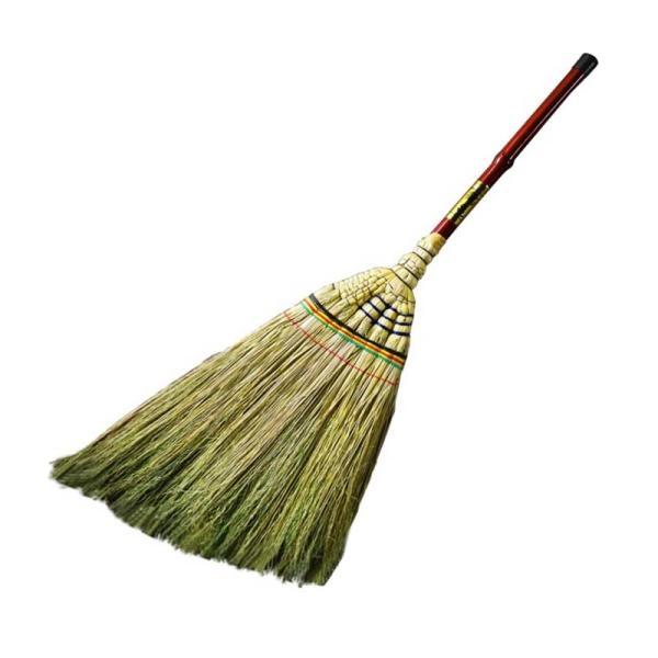 極上 鶴亀 座敷ほうき 金シール 金ラベル ほうき 箒 清掃 掃除 清掃用品 掃除用品 座敷 和室 フローリング 渋YD