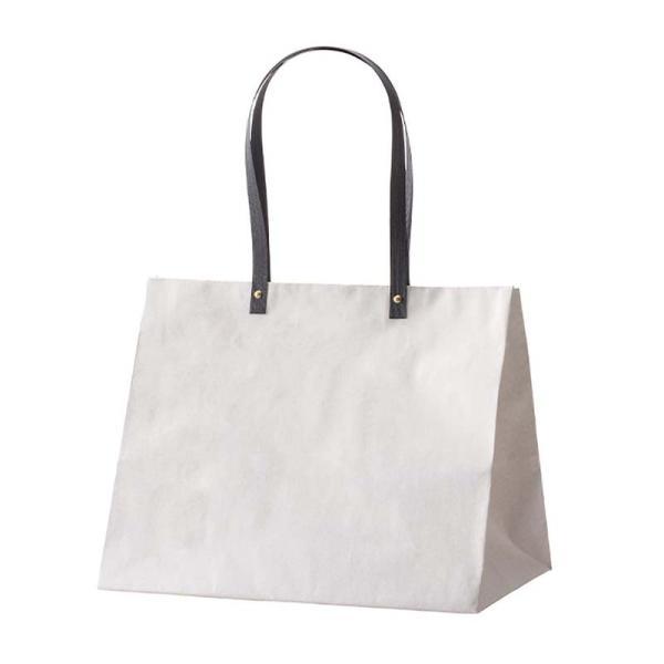 25枚 キャリーバッグ HK-L ホワイト 187-314241-0 紙袋 手提げ袋 ギフト 袋 花材 花資材 松K 代引不可
