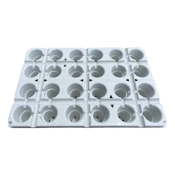 10枚 カタツムリポット C型24口プラス 510×340×100 白 イチゴ育苗 フクスイ タ種 個人宅配送不可 代引不可