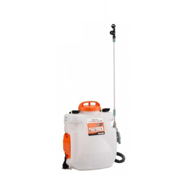 充電式噴霧器 SLS-7N 容量7L 縦型二頭口噴口 / 泡状除草噴口 バッテリー・充電器なし 重量3.3kg 工進 KOSHIN 背負式 除草 消毒 散布 シB 代引不可