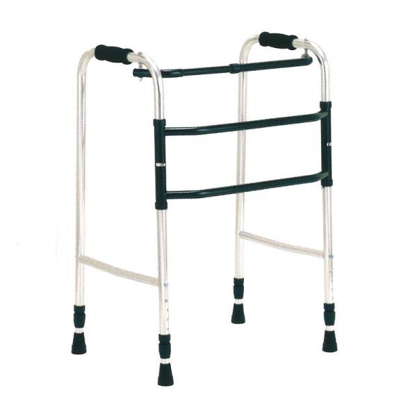 歩行器 アルミ製 交互歩行器 AL-105L 折り畳み クリスケアー 歩行補助 リハビリ クリスタル産業 代引不可
