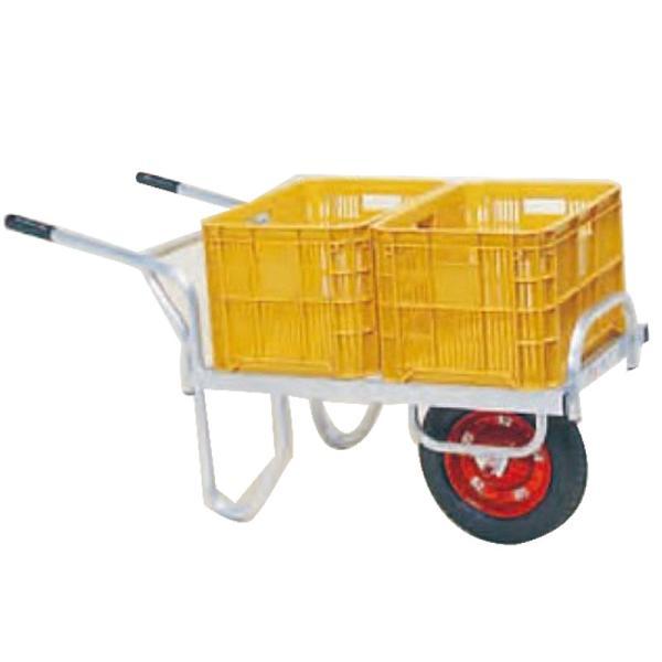 運搬車 コン助 アルミ製 平形一輪車 CN-40DN 20kgコンテナ2個用 ノーパンク ハラックス 防J 代引不可 個人宅配送不可 離島配送不可