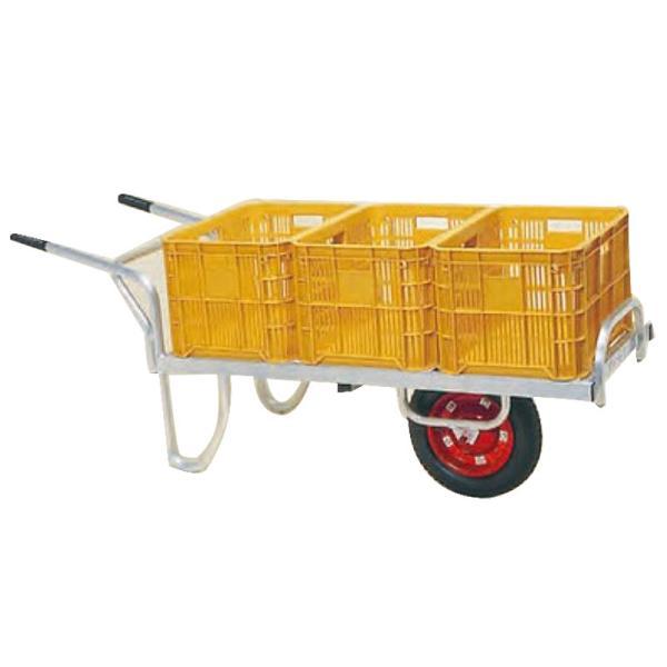 運搬車 コン助 アルミ製 平形一輪車 CN-60D 20kgコンテナ3個用 ハラックス 防J 代引不可 個人宅配送不可 離島配送不可