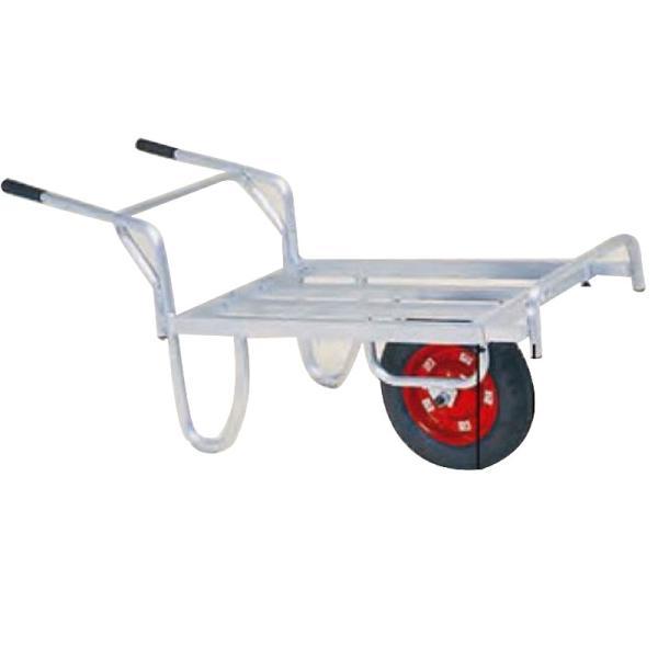 運搬車 コン助 アルミ製 平形一輪車 CN-45DN ストッパー伸縮タイプ ノーパンク ハラックス 防J 代引不可 個人宅配送不可 離島配送不可