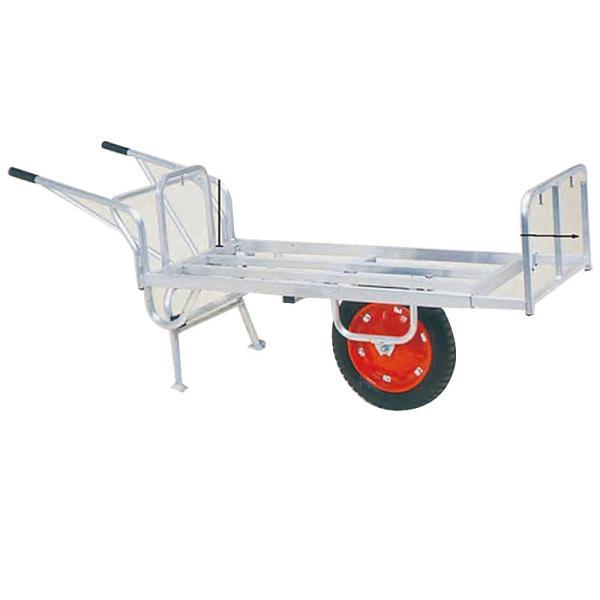 運搬車 コン助 アルミ製 平形一輪車 CN-65DU スタンド跳ね上げタイプ ハラックス 防J 代引不可 個人宅配送不可 離島配送不可