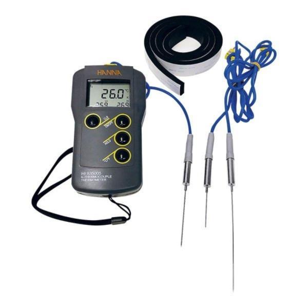 真空調理用芯温度計セット HI 935005VC 測定 計測 中心温度計 湯せん スチコン 加熱調理 惣菜調理 外食産業 病院 給食 機内食 食品 ハンナ カ施 代引不可