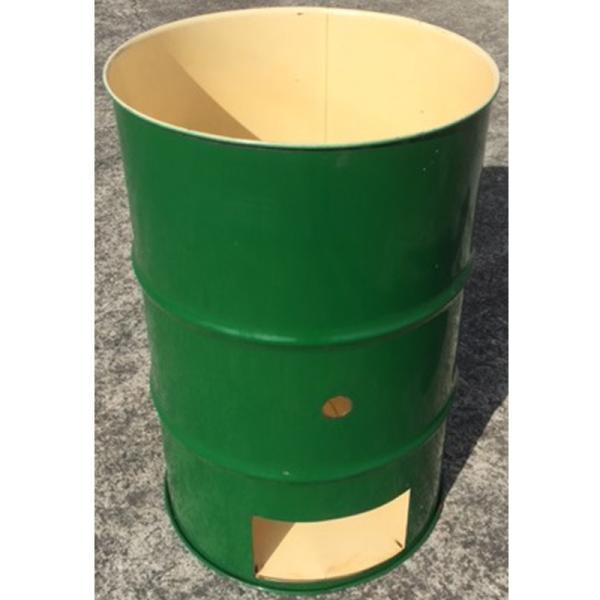 緑 ドラム缶焼却炉オープンドラム 200L 家庭用 農業 林業用 焼却炉 木くず 紙くず 部品入り 受注生産 ミY 代引不可
