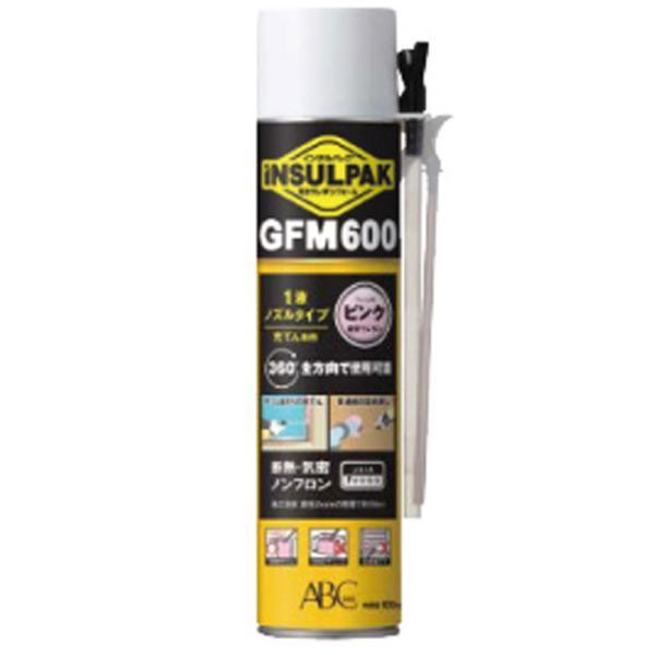 発泡ウレタンフォーム インサルパック GFM-600 600g 12本入 1液ノズル 充填タイプ 断熱材 隙間充填 ノンフロン ABC アミ 代引不可