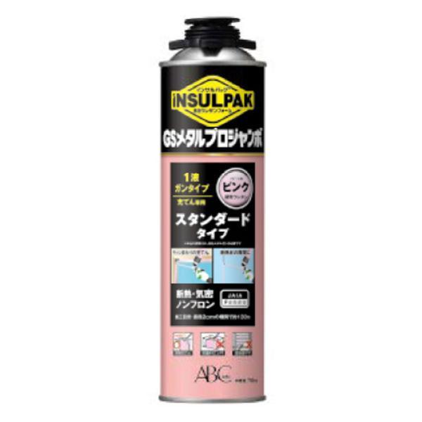発泡ウレタンフォーム インサルパック GSメタルプロジャンボ GSMPJP 750g 12本入 1液ガン 断熱材 隙間充填 ノンフロン ABC アミ 代引不可