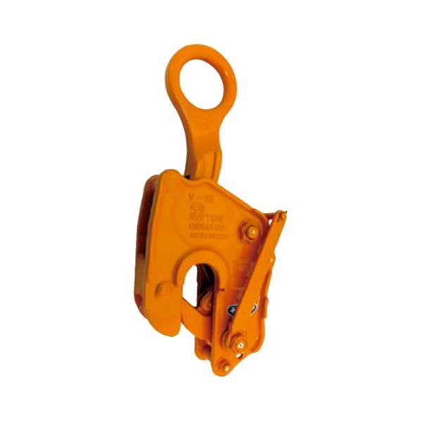 三木ネツレン 竪吊クランプ V25L型 ワンタッチ安全ロック式 V25L03 使用荷重3t クランプ範囲0〜38mm 荷重に比例しクランプ力が増加する構造 コT 代引不可