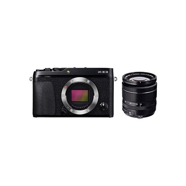 【在庫目安:お取り寄せ】富士フイルム  F X-E3LK-B ミラーレスデジタルカメラ X-E3 ズームレンズキット ブラック
