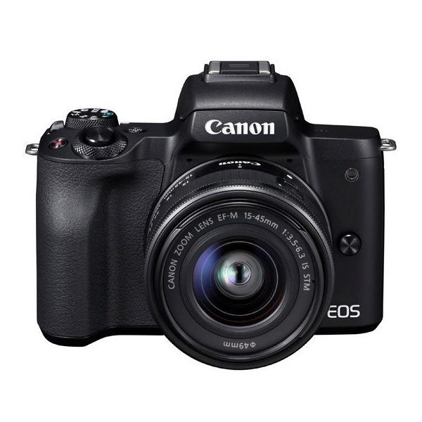【在庫目安:お取り寄せ】Canon  2682C002 ミラーレスカメラ EOS Kiss M・EF-M15-45 IS STM レンズキット (ブラック)