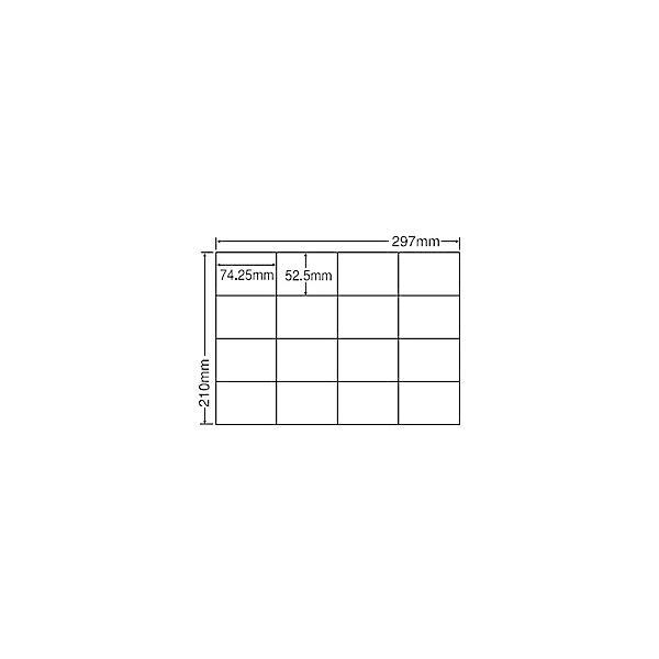 【在庫目安:お取り寄せ】 東洋印刷 C16S シートカットラベル A4版 16面付(1ケース500シート)