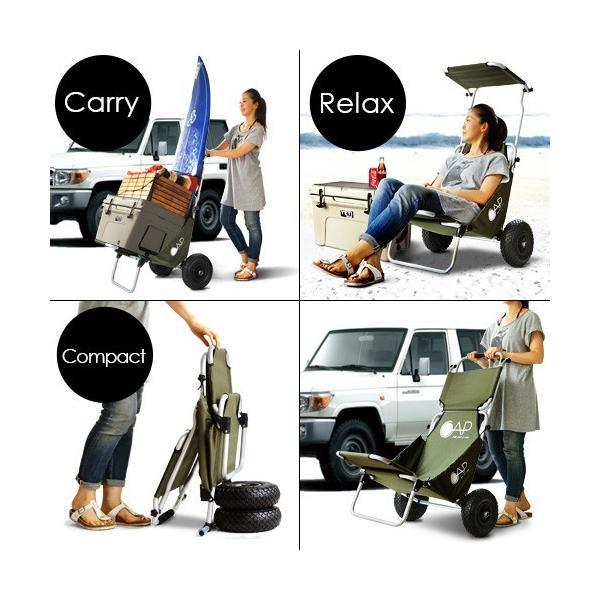 キャリーワゴン 折りたたみ バギーチェア CAP キャップ 椅子|plywood|03