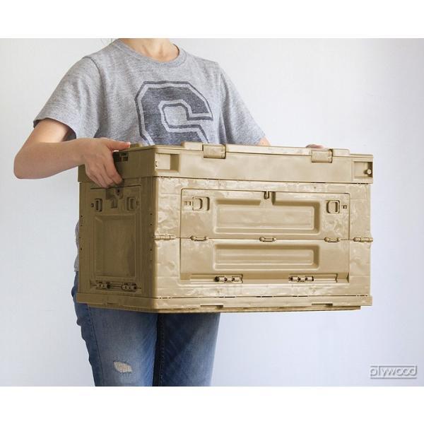 折りたたみコンテナ オリコン シェルフ 50L plywood 03