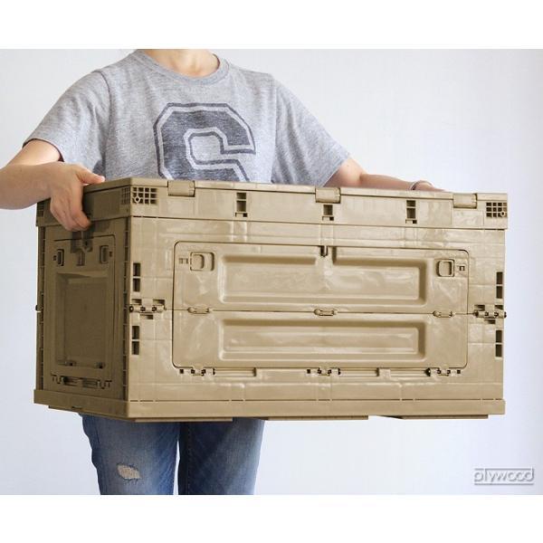 折りたたみコンテナ オリコン シェルフ 80L plywood 03