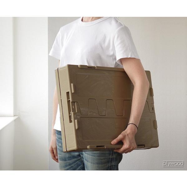 折りたたみコンテナ オリコン シェルフ 80L plywood 04