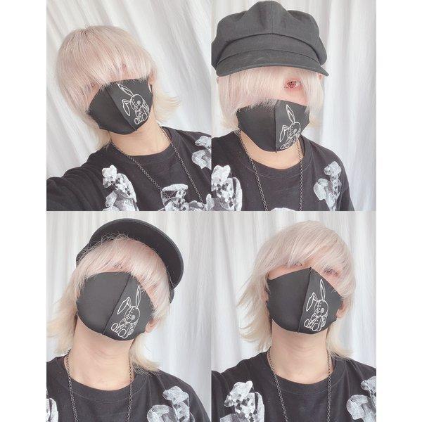 オリジナルプリント3D立体フェイスマスク 返品交換不可/1点のみメール便可能/ff0004/113n|pmcorporation|07