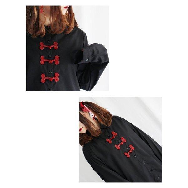 ファンキーフルーツ F.F.T collection チャイナボタンロングシャツトップス/メール便不可/ttp1480/07n|pmcorporation|12