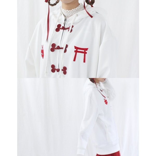 ファンキーフルーツオリジナルチャイナ&刺繍フードパーカー/メール便不可/ttp1494/07n pmcorporation 04