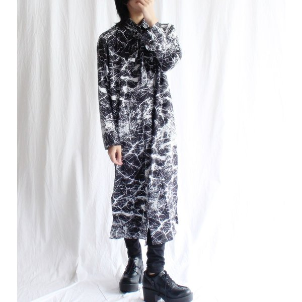 2020S/S新作 掠れ総柄シャツワンピース/メール便不可/ttp1526/07n|pmcorporation|11