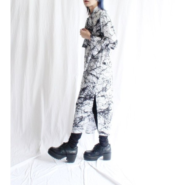 2020S/S新作 掠れ総柄シャツワンピース/メール便不可/ttp1526/07n|pmcorporation|04