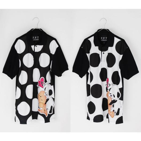 ファンキーフルーツオリジナル Bear&Panda すち!ベア&パンダフルグラフィック ポロシャツ/1点のみメール便可能/ttp1550-3/07n|pmcorporation|06