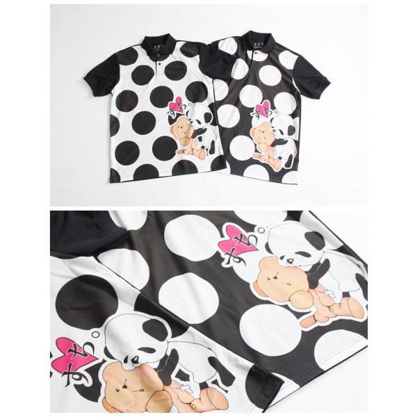 ファンキーフルーツオリジナル Bear&Panda すち!ベア&パンダフルグラフィック ポロシャツ/1点のみメール便可能/ttp1550-3/07n|pmcorporation|07