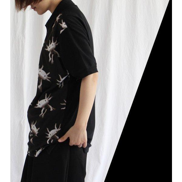 先行予約▼/ファンキーフルーツオリジナル Axolotl ウーパールーパー総柄風フルグラフィック ポロシャツ/1点のみメール便可能/ttp1550-7/07n pmcorporation 04