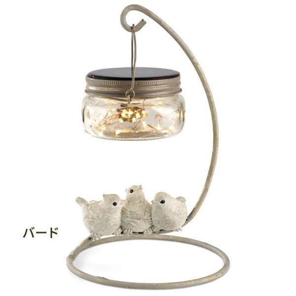 ガーデンライト ソーラー LED レポス ソーラーガーデンライト (バード フロッグ アウル)|pocchione-kabegami|02