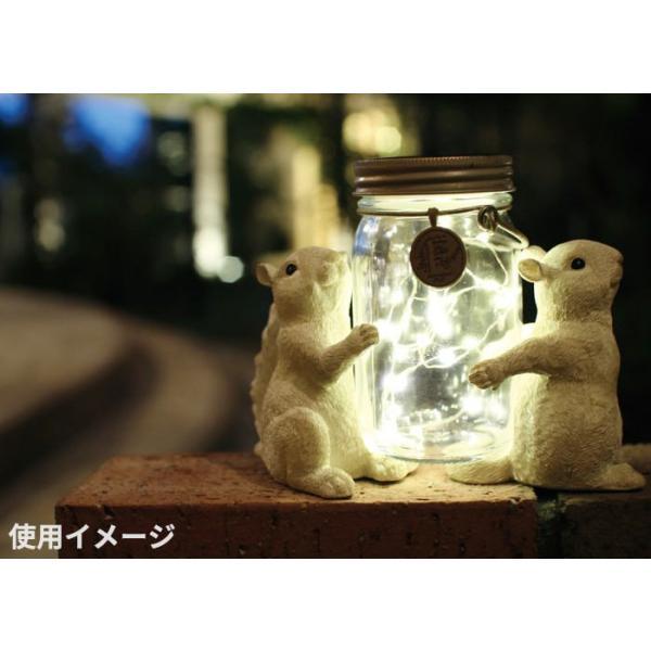 ガーデンライト ソーラー LED アニマルポーターズ ソーラーガーデンライト (フロッグ ラビット スクイレル)|pocchione-kabegami|04