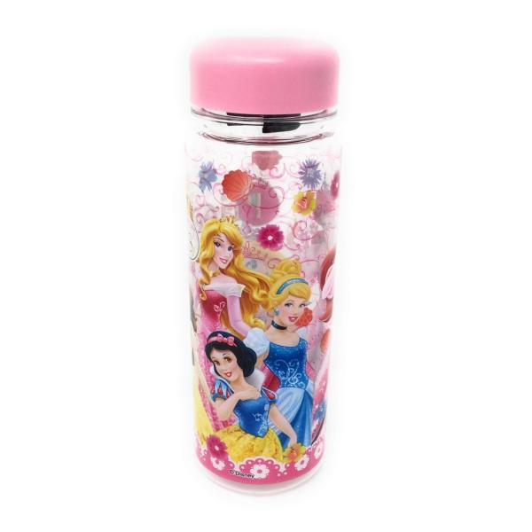ディズニープリンセス ウォーターボトル(ピンク)水筒 プラスチック 4589617963664 キャラクター グッズ メール便OK|poccl|02