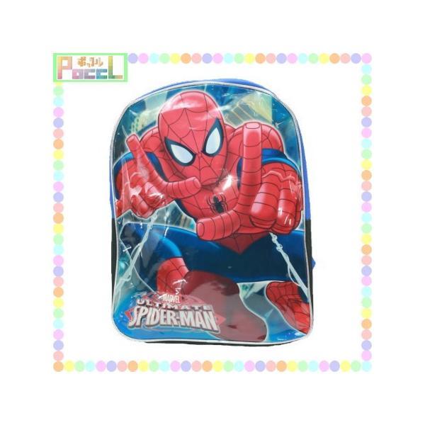スパイダーマン ラージリュック(両手でシャー) 795229164922 キャラクター グッズ|poccl