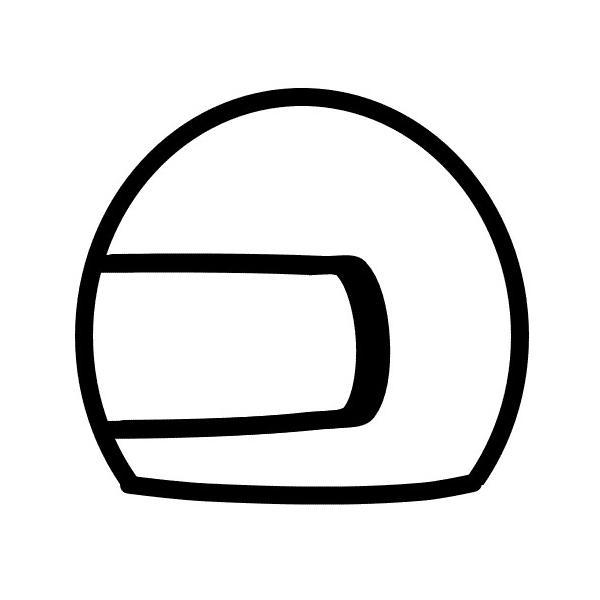 シンプル ヘルメットスタンプ
