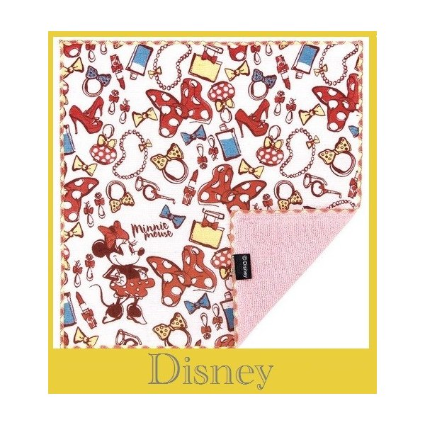 日本製 今治生まれ デイズニーファッションミニー  ガーゼハンカチ裏側パイル オシャレグツズがいっぱい!   お届け方法ゆうパケットメール便