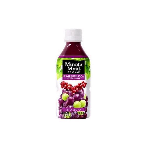 コカコーラ ミニッツメイド 朝の健康果実100% カシス&グレープ 350mlPET 24本入 (果汁飲料)