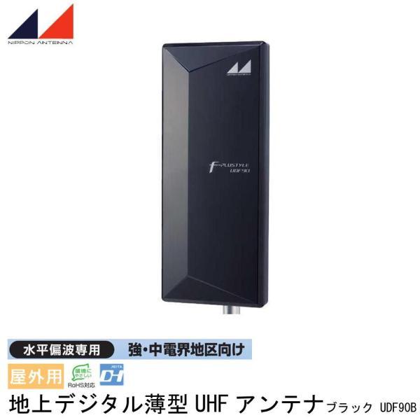 日本アンテナ 屋外用 地上デジタル薄型UHFアンテナ 水平偏波専用 強 中電界地区向け ブラック UDF90B