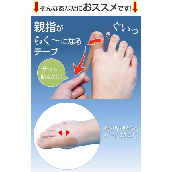 親指を支えるテープ 足指用