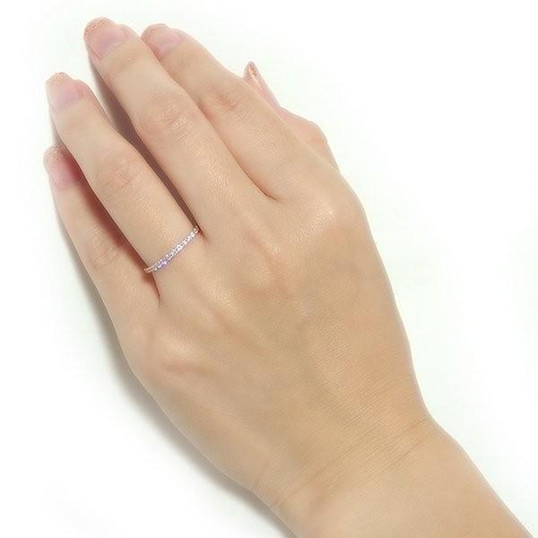 K18ピンクゴールド 天然ダイヤリング 指輪 ダイヤ0.20ct 12号 Go
