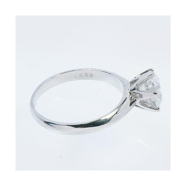 プラチナPt900 超大粒1.5ctダイヤリング 指輪 鑑定書付き 11号