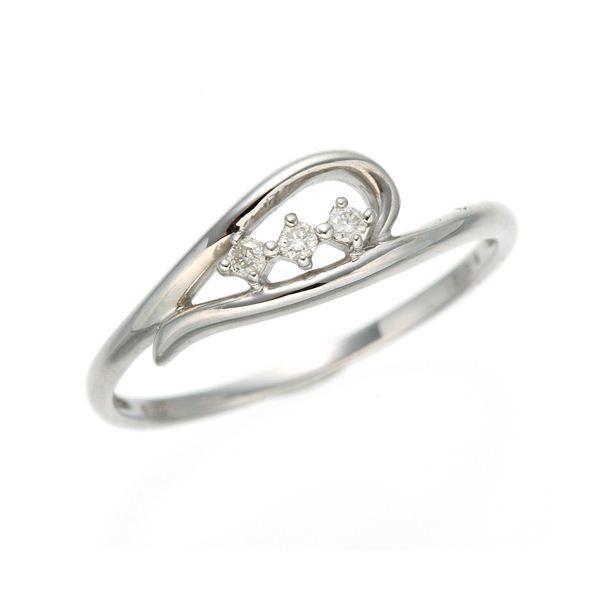 ダイヤリング 指輪 ハーフハートリング 15号